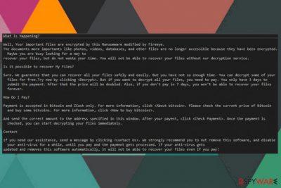 BlackFireEye ransomware