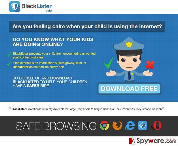BlackLister Ads snapshot