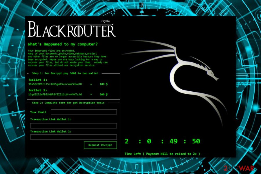 Remove BlackRouter ransomware (Removal Guide) - Removal Instructions
