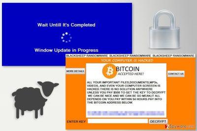 Ransom note by BlackSheep ransomware virus