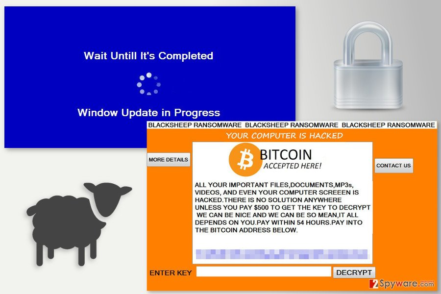 Ransom note by BlackSheep ransomware virus