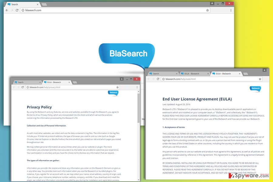 Screenshot of Blasearch.com