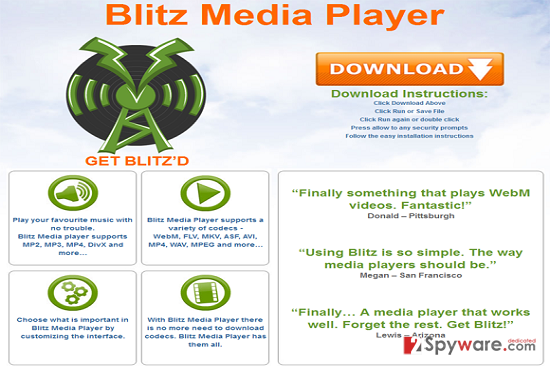 Blitz Media Player snapshot