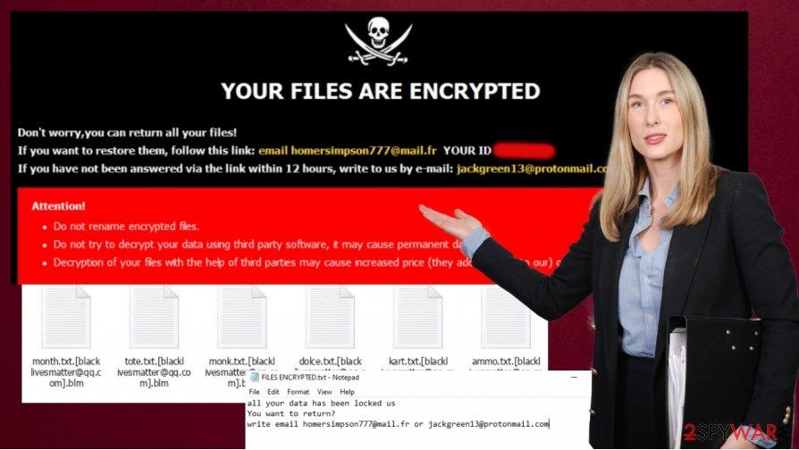 Blm ransomware encrypts files