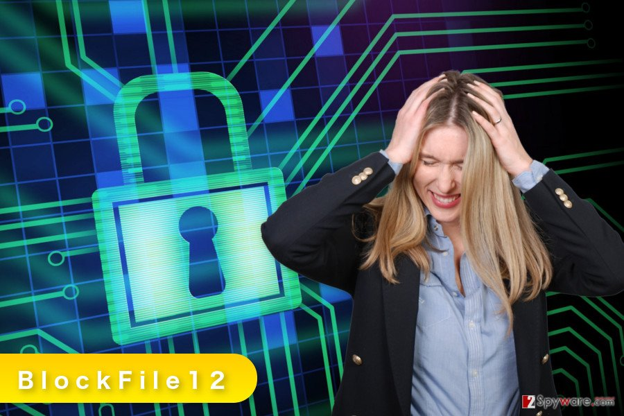 The illustration of BlockFile12 ransomware virus