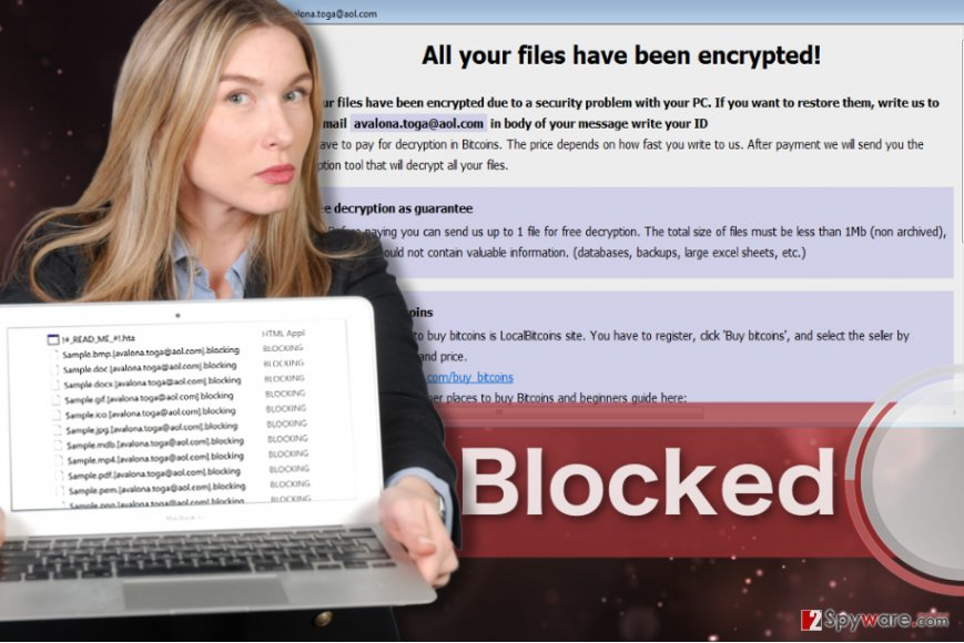 Blocking ransomware virus