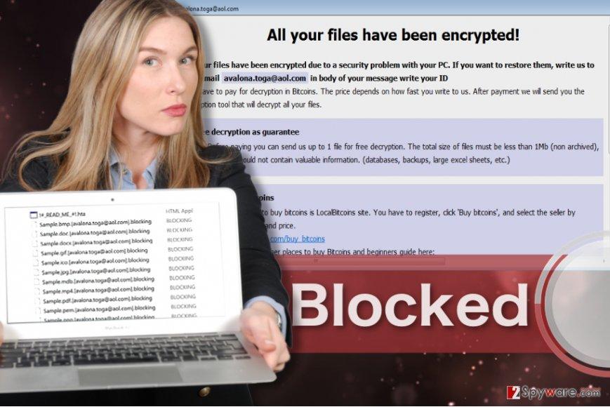 Blocking ransomware virus