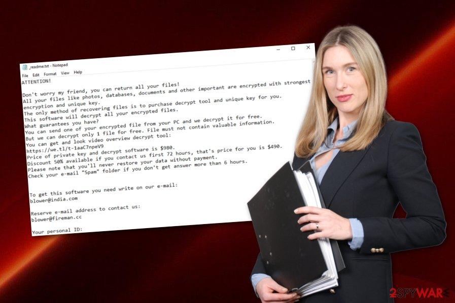 Blower ransomware