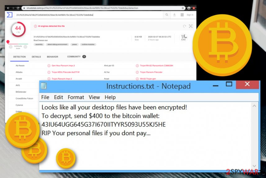 BlueCheeser ransomware virus
