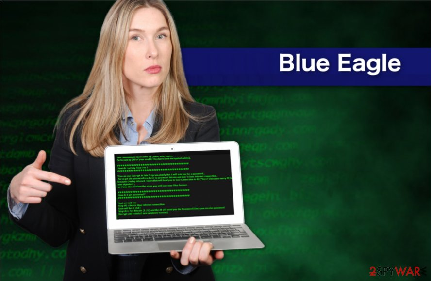 Blue Eagle ransomware virus