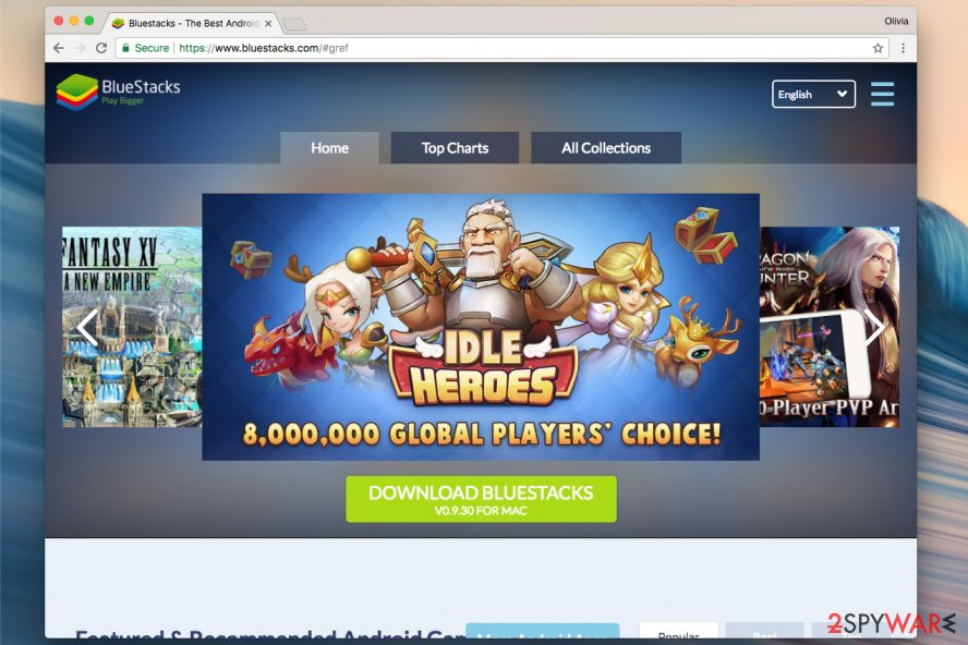 BlueStacks official website