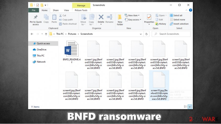 BNFD ransomware encrypted files