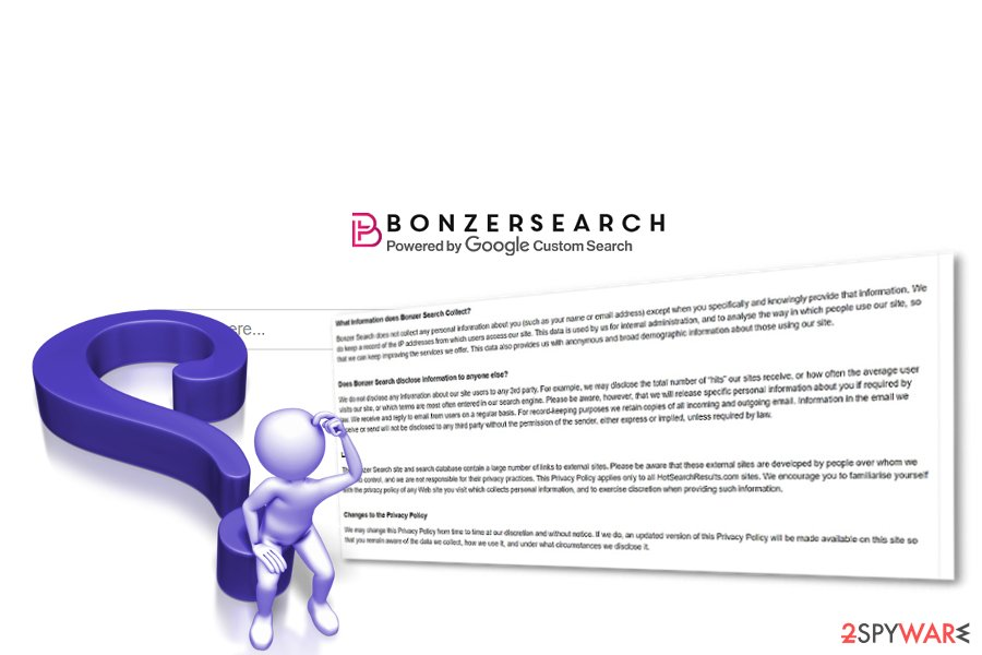 The screenshot of Bonzer Search