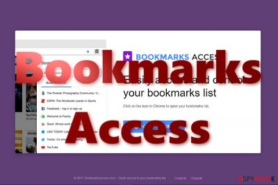 The image of Bookmarks Access main page