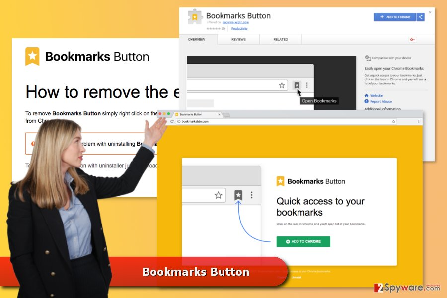 The picture of Bookmarks Button virus