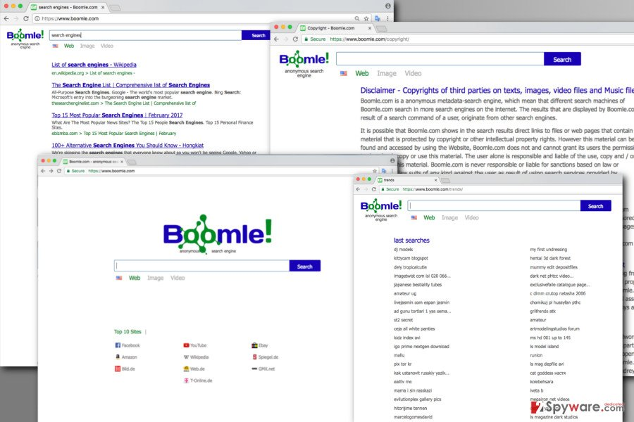 The illustration of Boomle.com virus