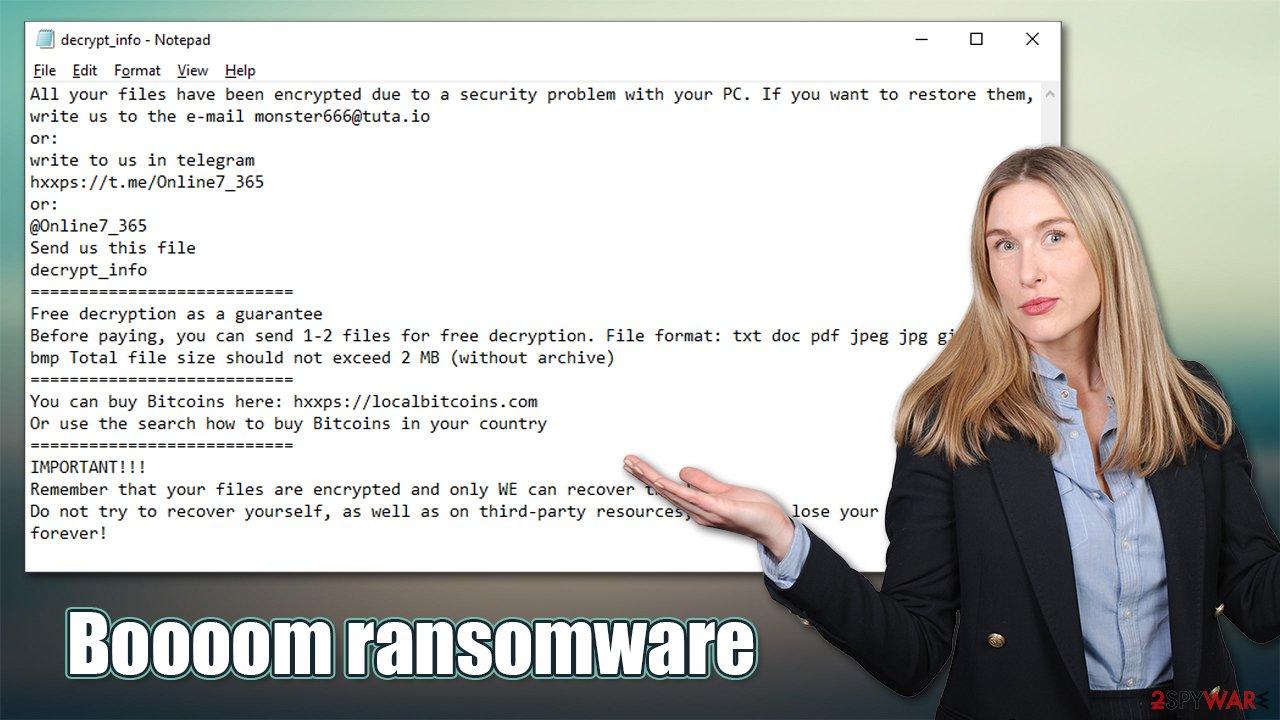 Boooom ransomware virus