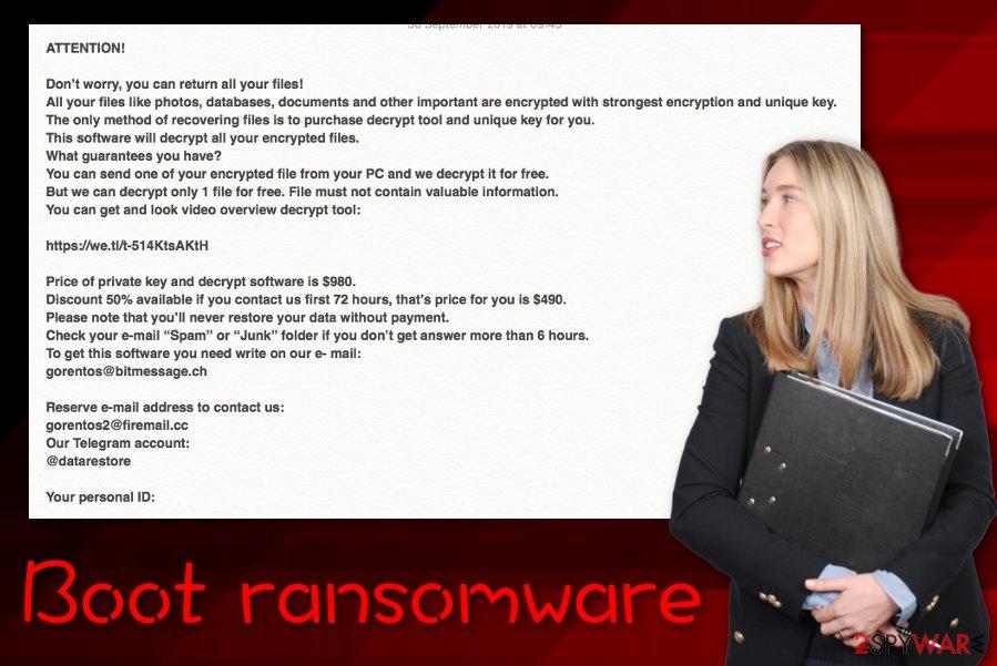 Boot ransomware virus