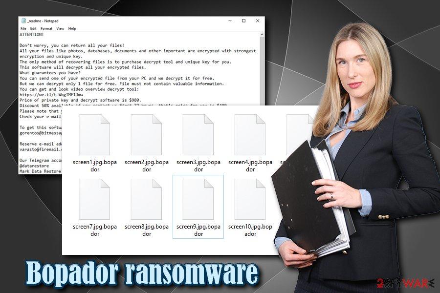 Bopador ransomware virus