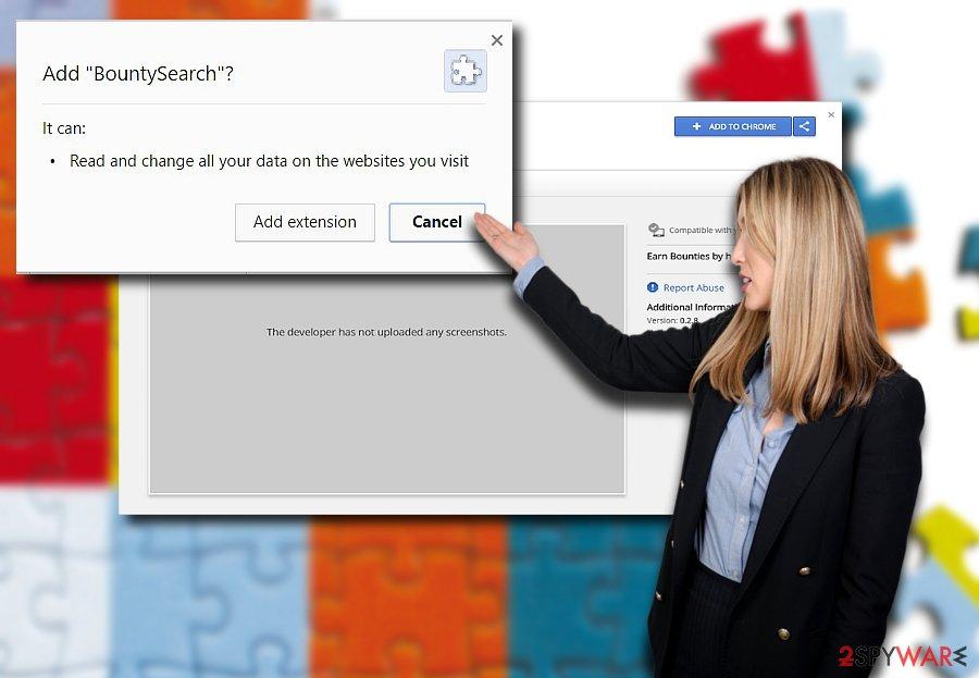 The screenshot of BountySearch