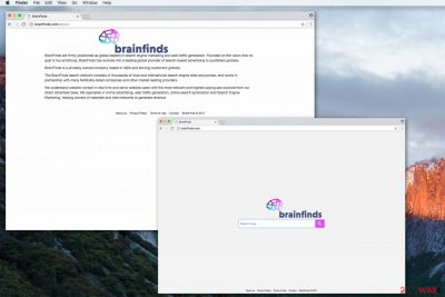 Brainfinds.com fake search engine