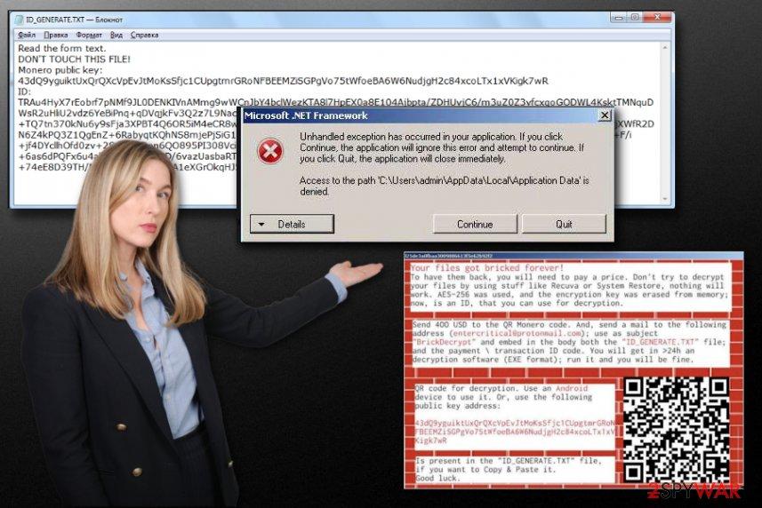 Brick ransomware virus