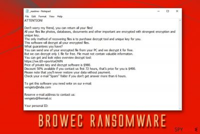 Browec ransomware