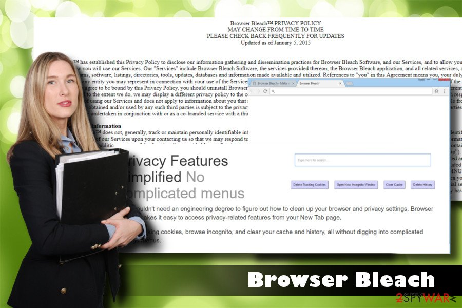 Browser Bleach virus example
