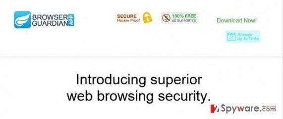 Browser Guardian App virus snapshot