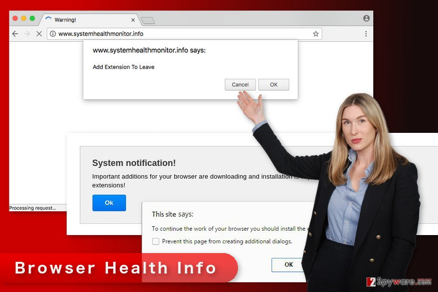 The picture of Browser Health Info virus