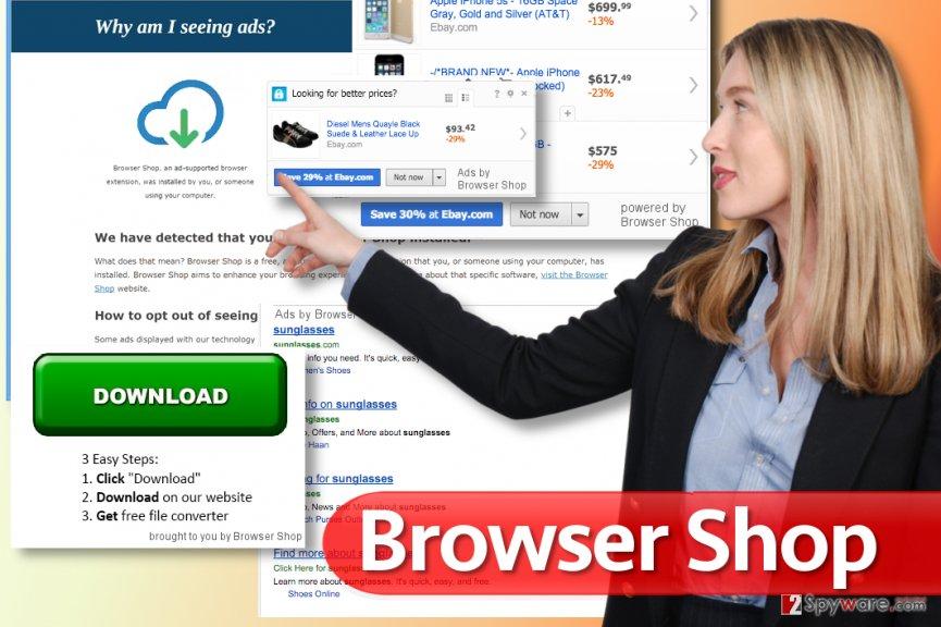 Browser Shop ads