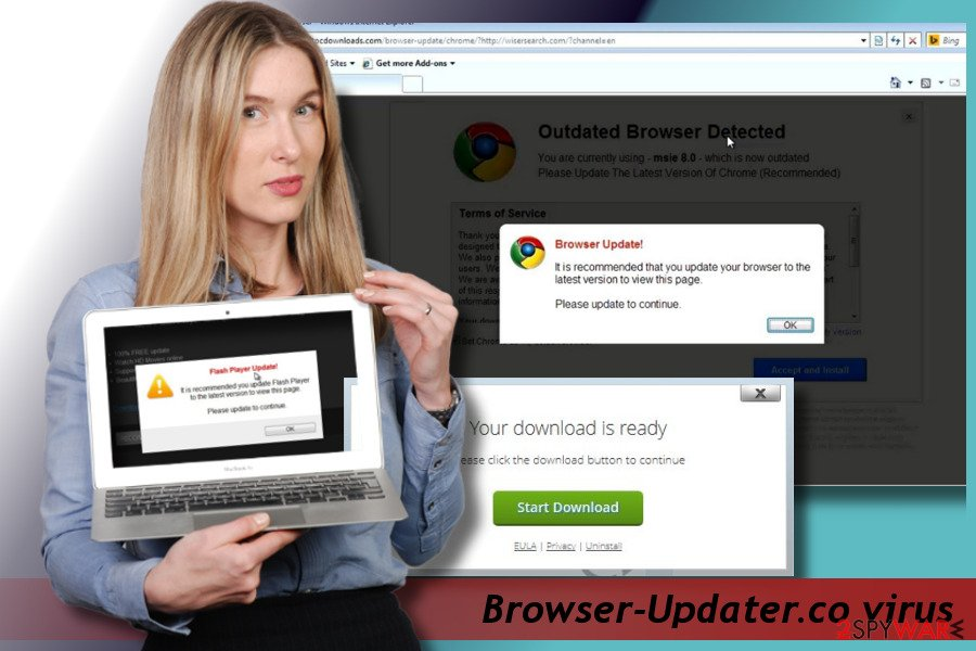 Printscreen of Browser-Updater.co ads