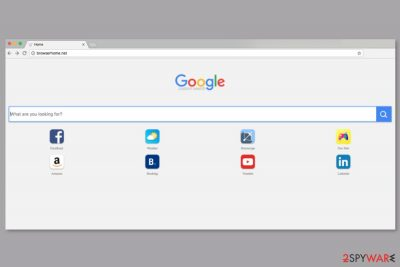 The screenshot of Browserhome.net