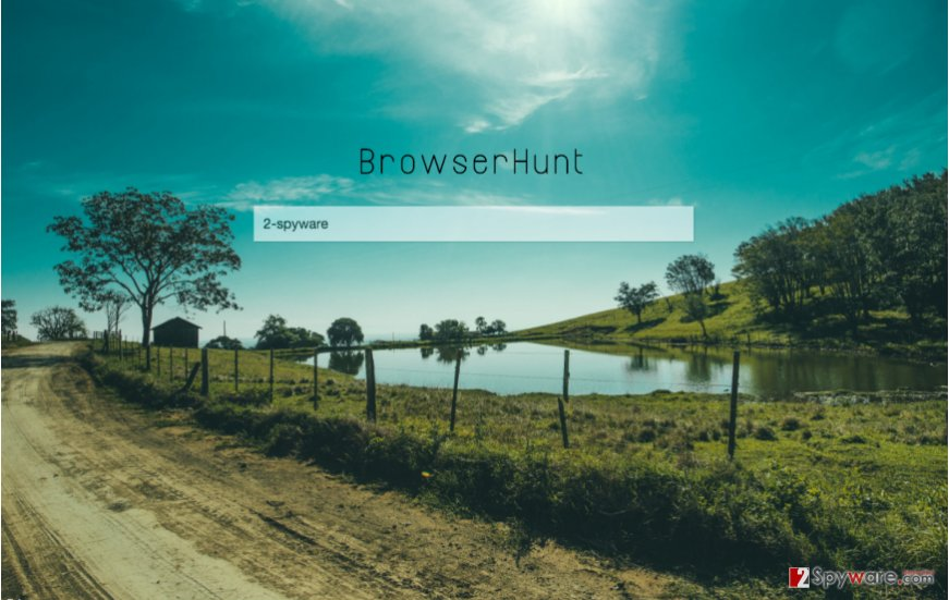 A screenshot of the Browserhunt.com virus