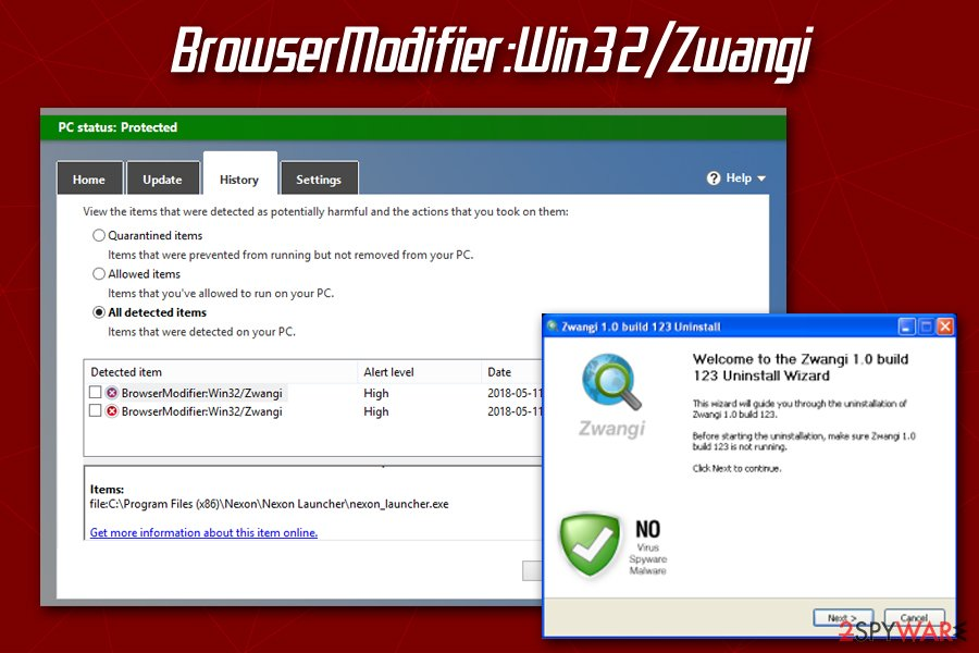 BrowserModifier:Win32/Zwangi
