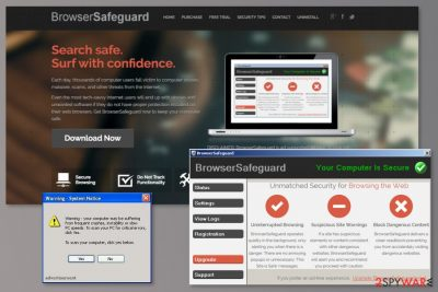The example of BrowserSafeguard virus