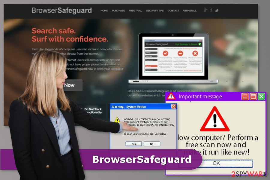 The image of BrowserSafeguard adware