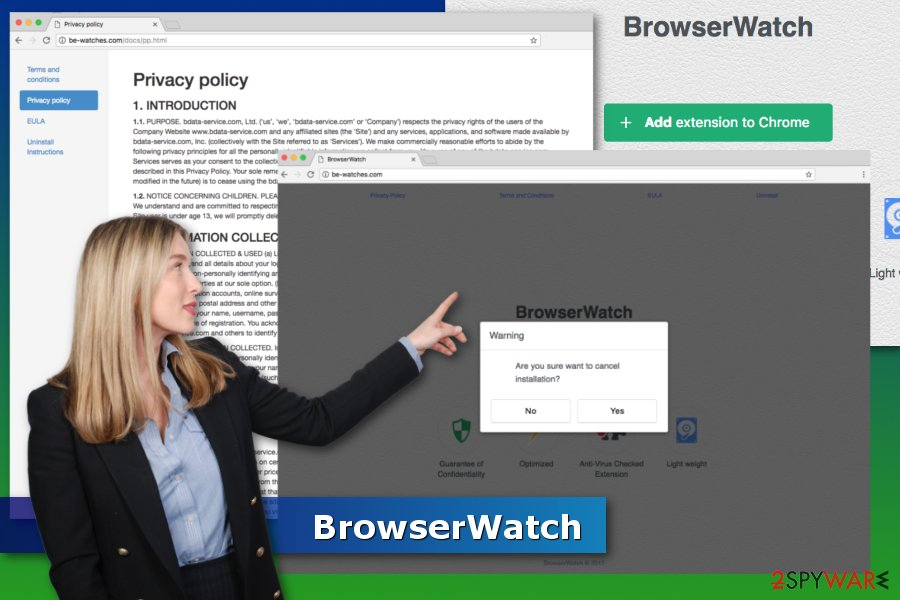 Example of BrowserWatch virus