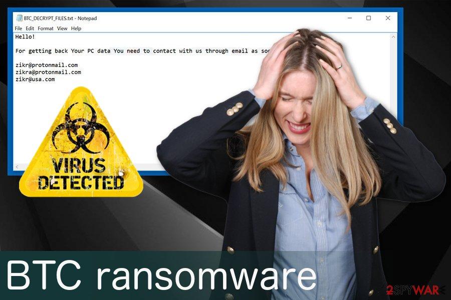 BTC ransomware virus