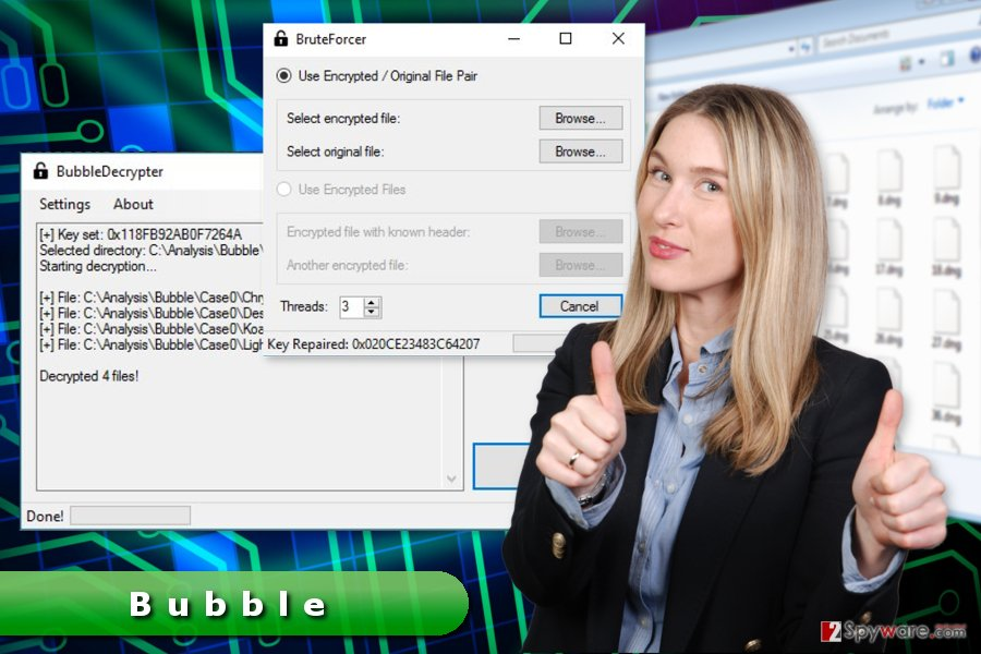 The image of Bubble ransomware virus