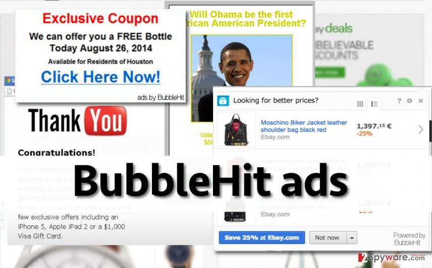 BubbleHit adware generates many ads and delivers them daily