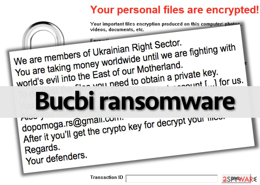 Bucbi virus encrypts files and asks the victim to pay up