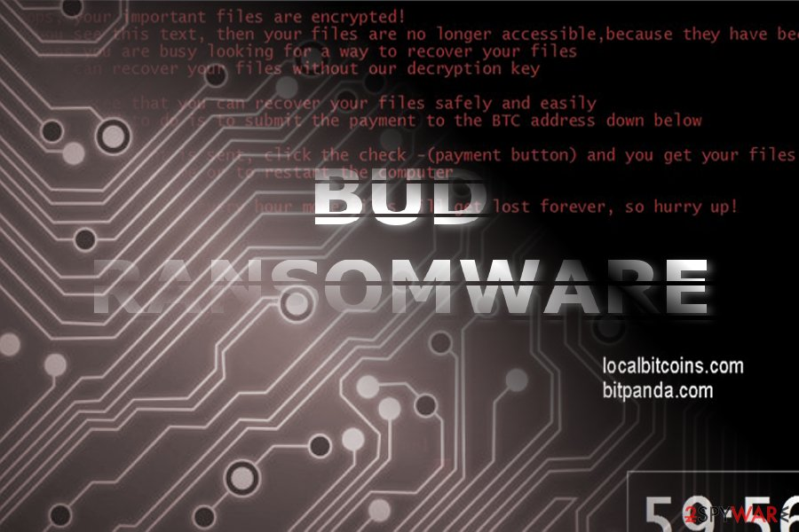 The image of Bud ransomware