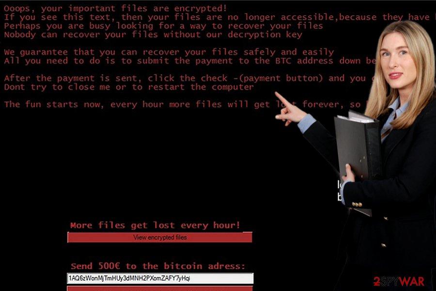Bud virus ransom note