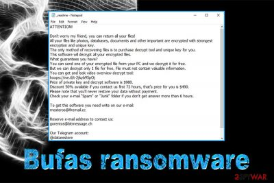Bufas ransomware
