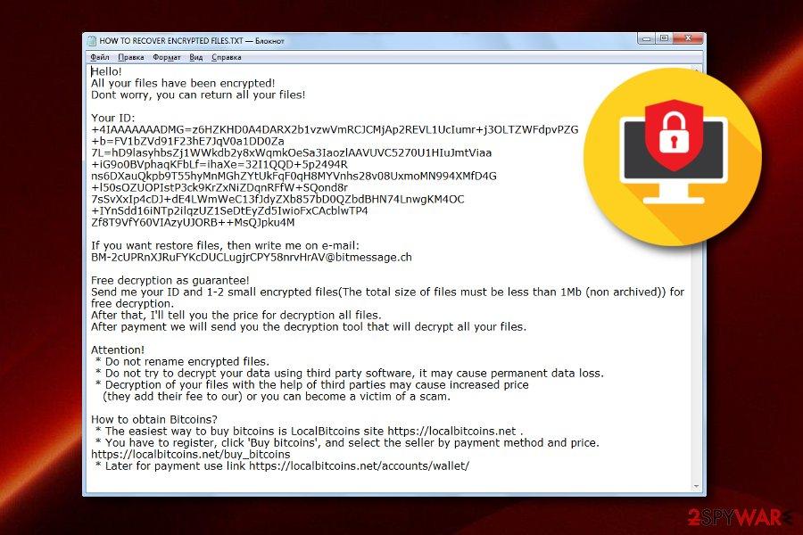 Burn ransomware virus