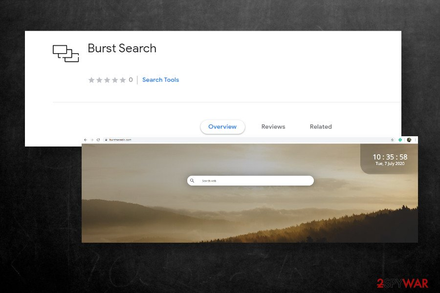 Burst Search hijacker
