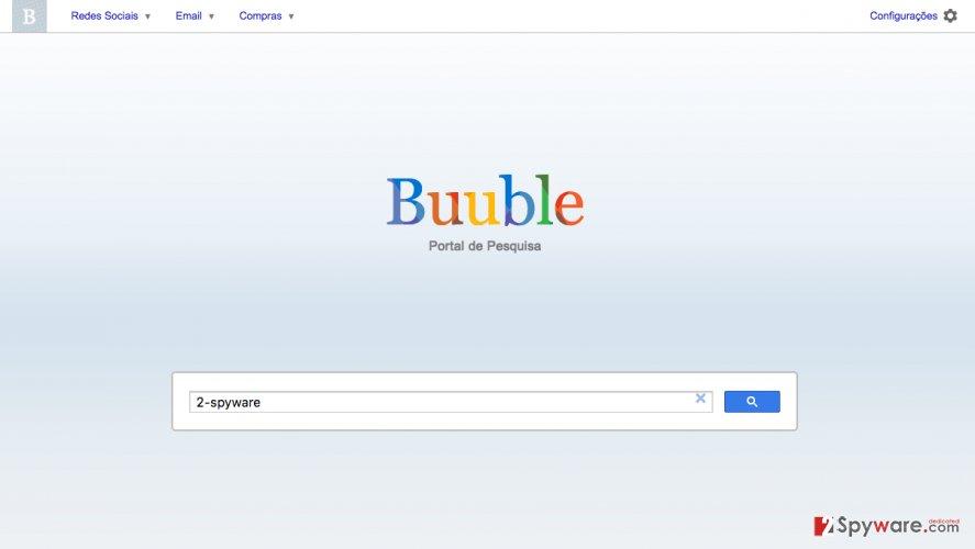 A screenshot of the Buuble.net browser hijacker virus