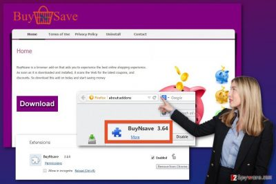 The image of BuyNSave virus
