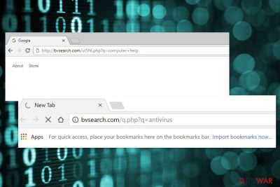 Example of Bvsearch.com redirects
